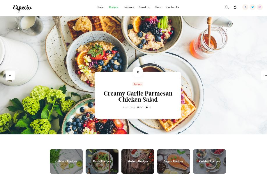 Wordpress themes for foodbloggers