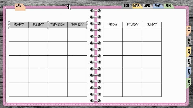 How to make a digital planner with clickable links