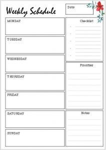 daily planner printable A4 Filofax