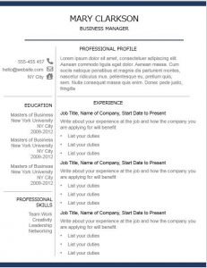 Free resume template pack