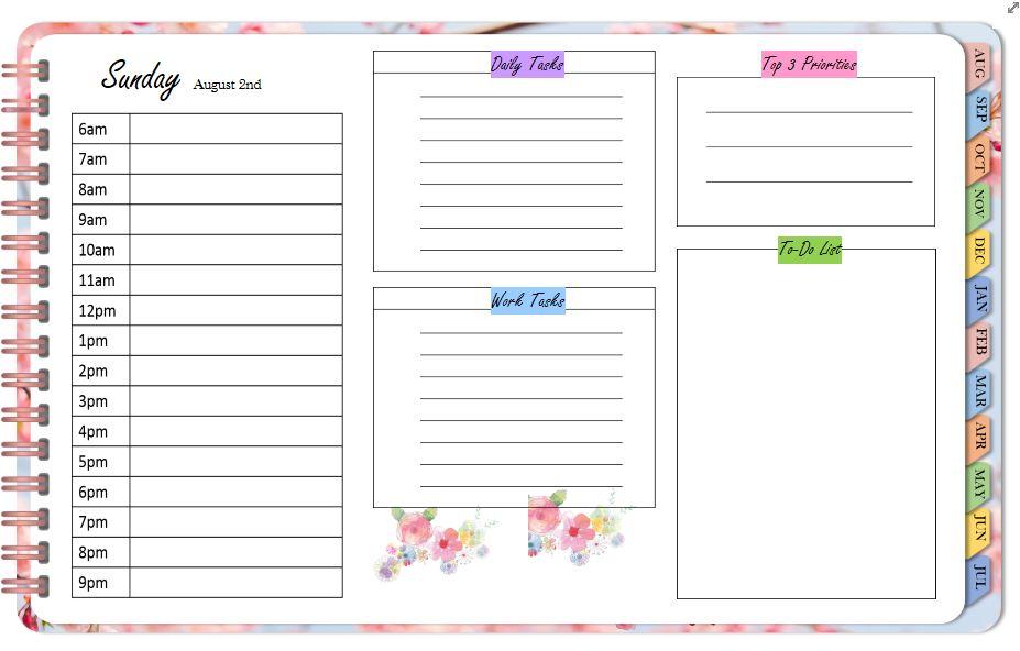 OneNote digital Planner