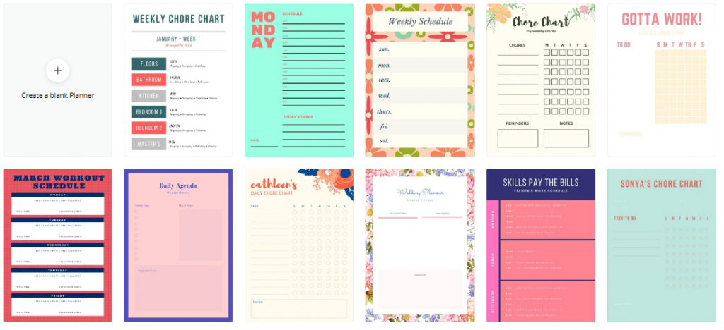 Create Planner templates with Canva