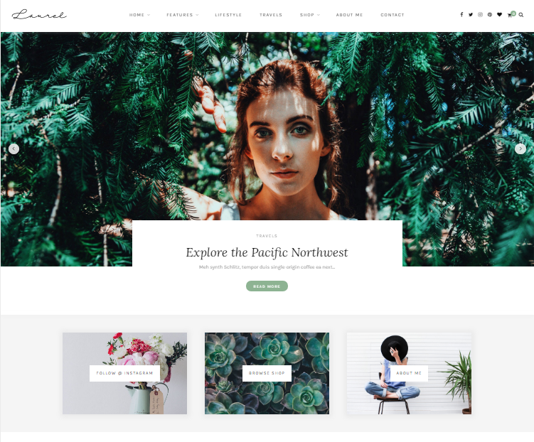 Laurel - A WordPress Blog & Shop Theme