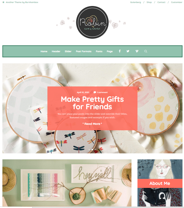 Robin - WordPress Colorful Blog Theme