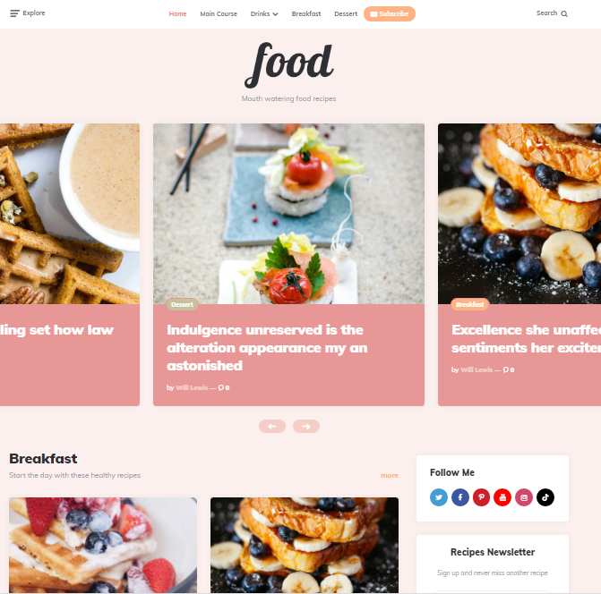 Ruki - WordPress Feminine theme