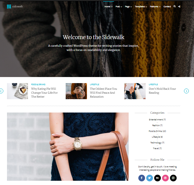 Sidewalk - Elegant WordPress Theme