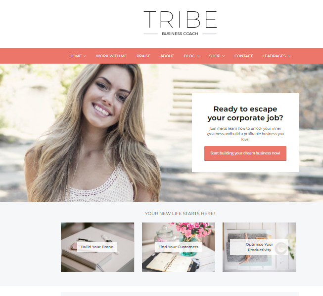 Tribe - Feminine WordPress Theme