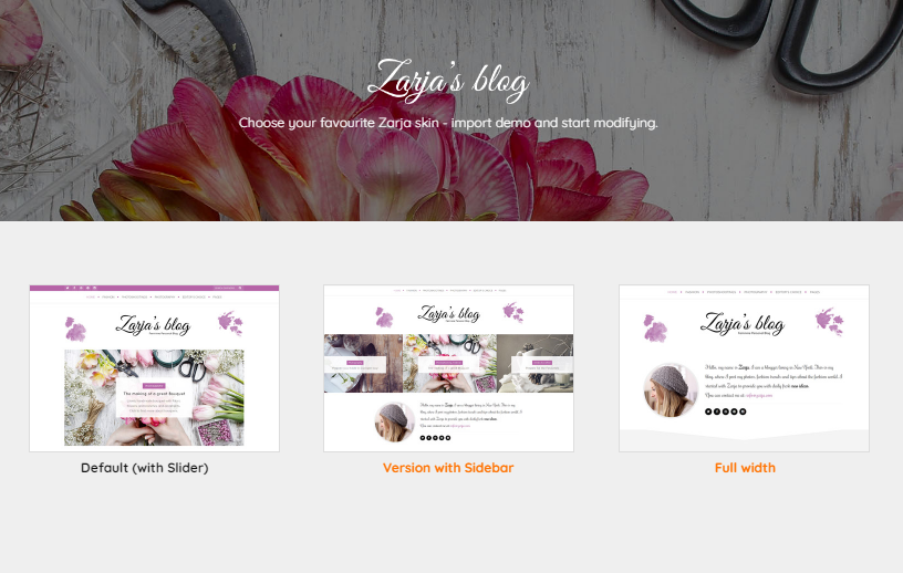 Zarja - Feminine WordPress Blog Theme